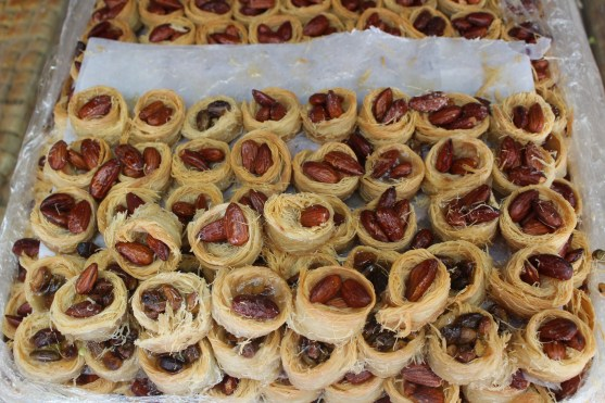 delicious Kataifi pastries with Almond