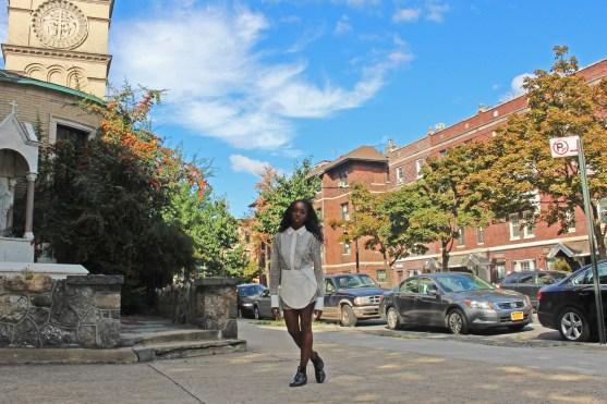 top, HARBISON | skirt, Azede Jean-Pierre | shoes, Topshop