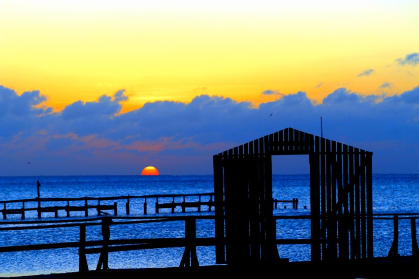 Sunset at the Fishing Pier, Dennis Isenberg