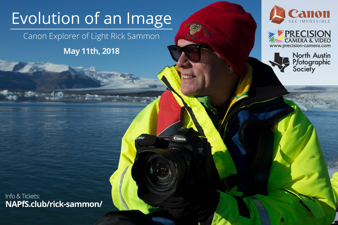 Rick Sammon - Evolution of an Image - May 11th 2018 - Austin Texas