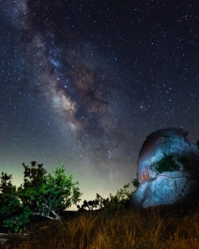Milky Way at Enchanted Rock by Agee Springer