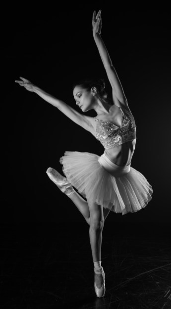 Ballerina in White and Dark - Jay Hsin