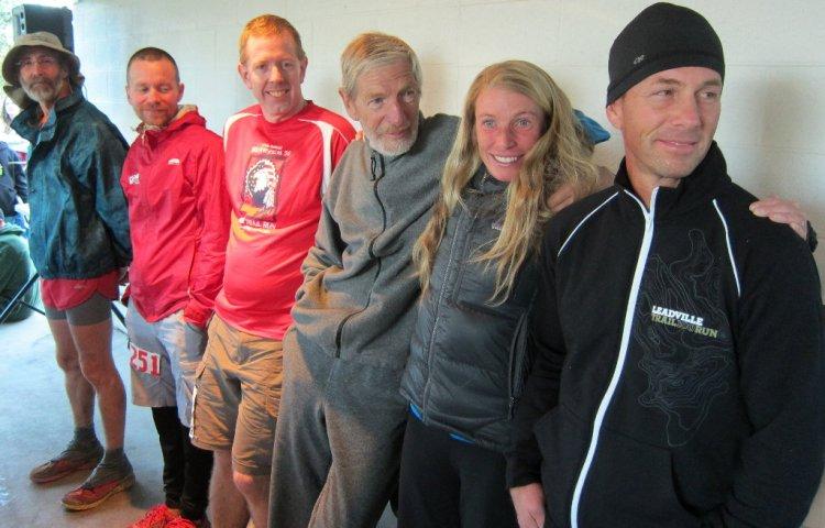 Zdobywcy Szlema z 2013 roku - od lewej Scott Snyder, Alan Smith, Andrew Barney, Hans-Dieter Weisshaar, Sara Evans-McCloskey and Shane Martin (źródło: http://www.run100s.com/images/rms13.htm)