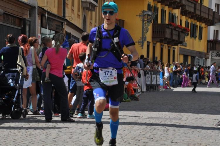 Łukasz Belowski finiszuje w Lavaredo Ultra Trail 2015 jako najszybszy z Polaków Fot Ola Belowska