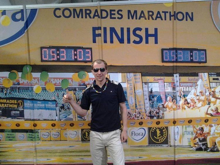 Artur Kern na Comrades Marathon. Fot. Archiwum Artura Kerna
