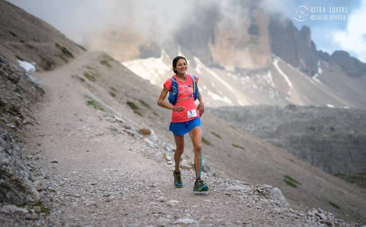 Rory Bosio - swego czasu zwyciężczyni Lavaredo Ultra Trail, bardzo mocna Amerykanka. W tym rou dopadły ją żołądkowe problemy, jak wielu innych w elicie. Fot. Ultralovers/ Jacek Deneka