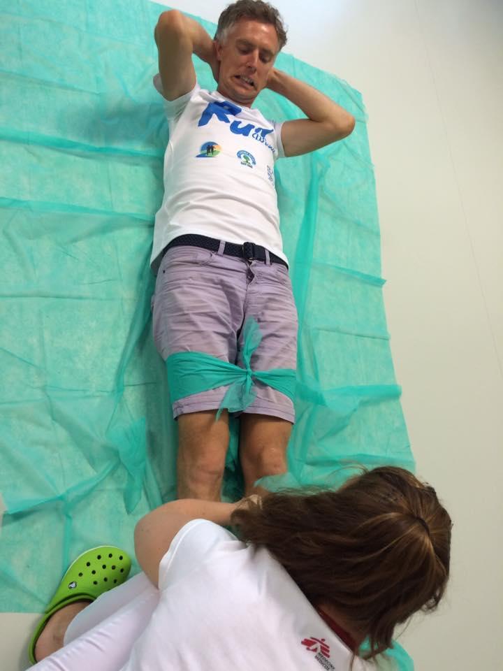 Ćwiczenia u fizjoterapeuty. Fot. Materiały projektu Run Wisła