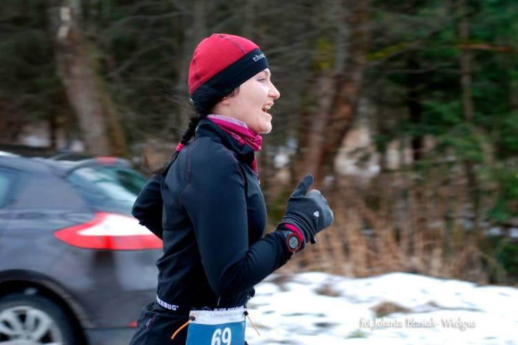 Pasek na numer startowy. Zimowy Maraton Bieszczadzki. Fot. Jolanta Błasiak-Wielgus