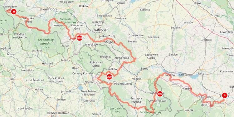 Główny Szlak Sudecki, track, ślad GPS
