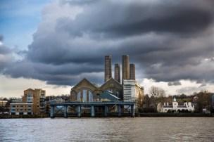 February 2013 River Thames, Isle of Dogs, London, UK