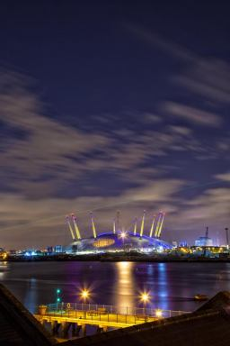 July 2012 The O2 by night, London, UK