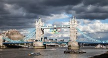 July 2012 Olympic Tober Bridge, London, UK