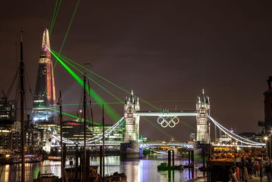 July 2012 Shard Openig Lights, Tower Bridge, London, UK