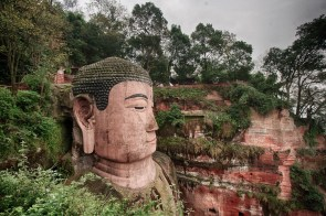 November 2008 The Great Buddha, Leshan, Qingyi river, Sichuan, China