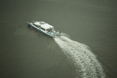 June 2013 From Emirates Air Line, River Thames, London, UK