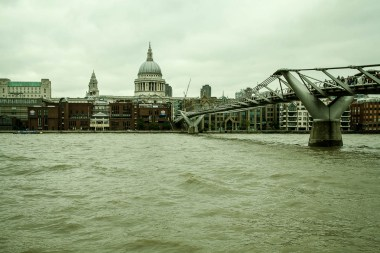 September 2013 Millennium Bridge, St. Paul's Cathedral, London, UK