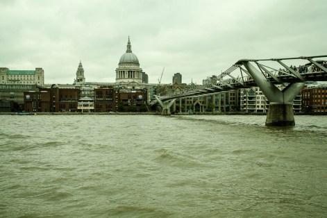 September 2013 Millennium Bridge, St. Paul's Cathedral, London, UK