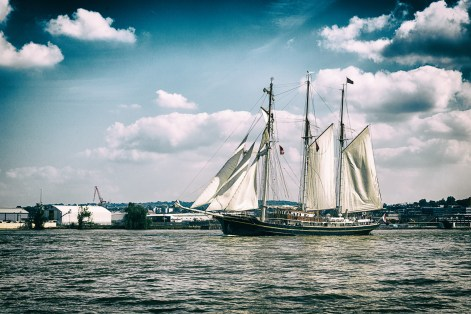 September 2014, Spectacular parade of sail finale, The Tall Ships Festival 2014, River Thames, London, UK