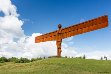 July 2015, Angel of The North, Gateshead in Tyne and Wear, England, UK