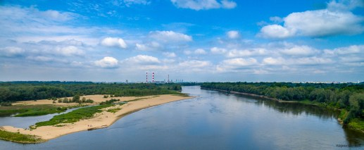 July 2018, Vistula River, Warsaw, Poland