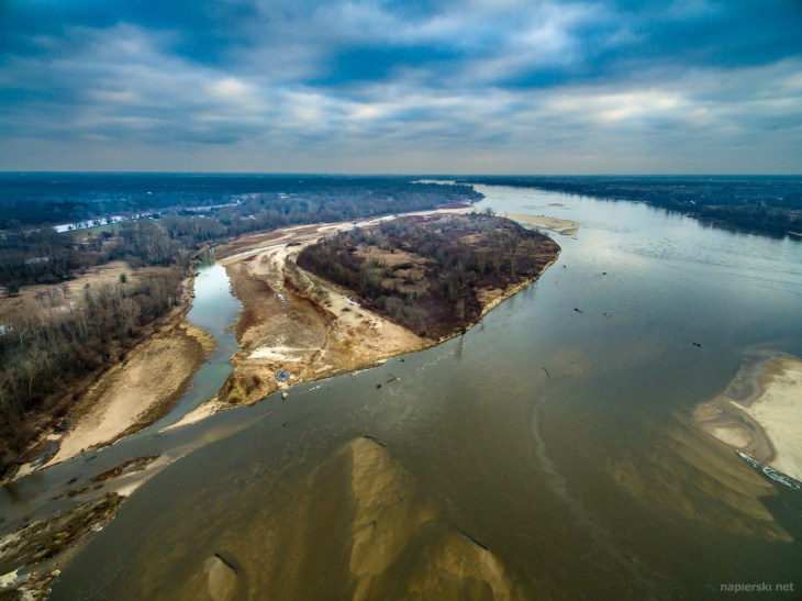 January 2019, Vistula River, near Warsaw, Poland