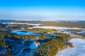 February 2021, Lake Robotno, Brodnica, Poland