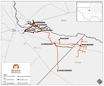 Brazos Midstream Announces New Projects in Southern