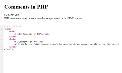 comments-in-php