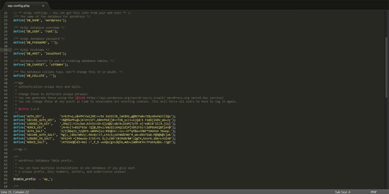 wordpress-install-database-setup