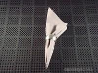Napkin Folding Secrets - Use Napkin Rings to Fold the Ivy