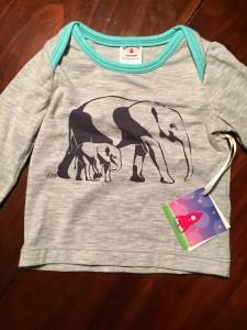 Elephant shirt by Baby Blastoff