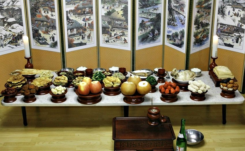 A Table For Chuseok In Honor Of Ancestors