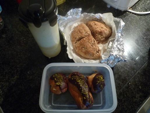 Day .1. Leek & Potato Soup, Soda Bread, Eclairs