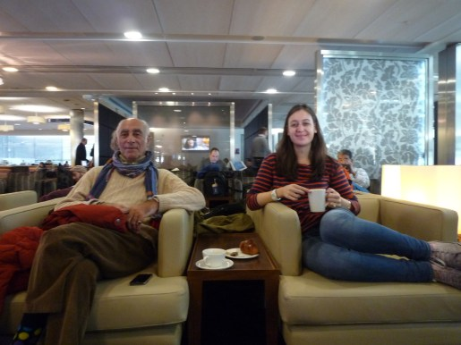 Chillin in the airport lounge