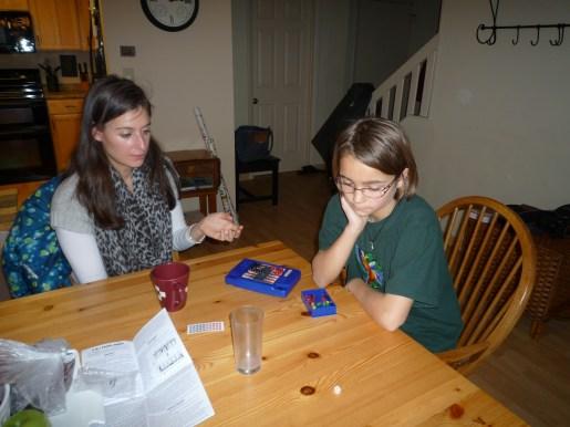 Teaching I how to play backgammon
