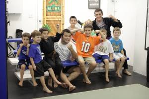 Team Third Law's After School Kids hang out with Coach Joey and Master Roberto after doing a No Gi Brazilian Jiu Jitsu class.