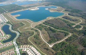 aerial view of Lake at Corkscrew Shores