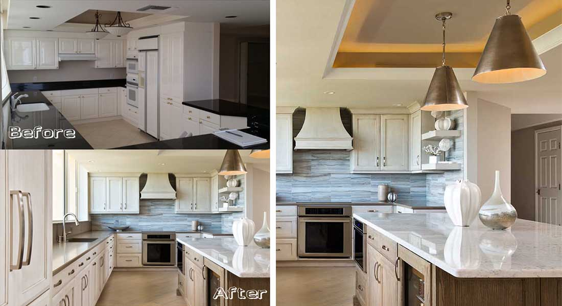 virtual kitchen makeover recycling bins st. raphael at pelican bay before & after - naples ...