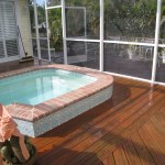 Pressure Cleaned Wooden Deck