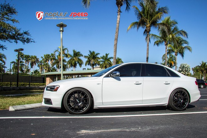 NAPLES SPEED WHITE S4 WITH BLACK BBS CH-R