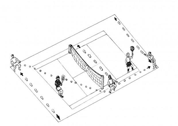 Foto Il manuale del raccattapalle, tecnica, disegni e