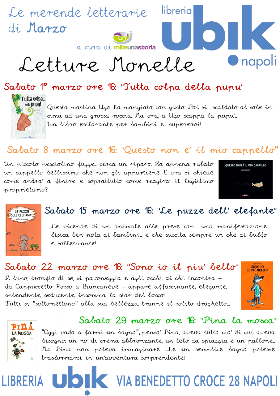 Merende Letterarie di Marzo  Napoli per Bambini