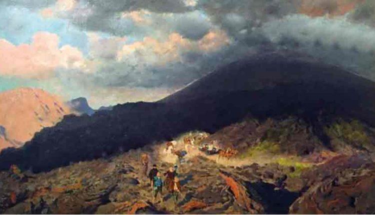 La storia del Vesuvio di Hitler Il quadro di De Nittis esposto a palazzo Zevallos