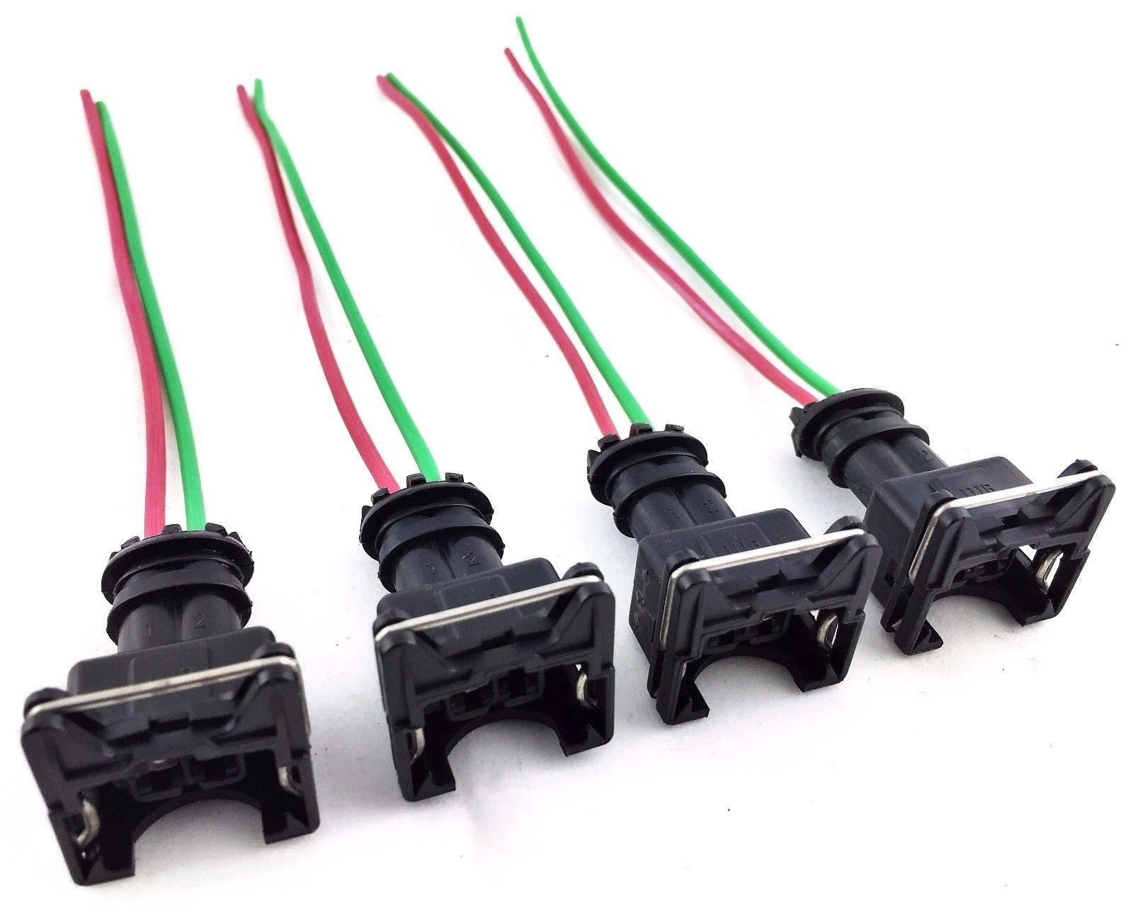 hight resolution of 4 rc fuel injector connector wiring harness plug clips bosch ev1 pigtail obd1 gm