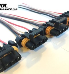 4 x ls1 ls6 ignition coil wiring harness pigtail connector gm camaro corvette [ 1600 x 1158 Pixel ]