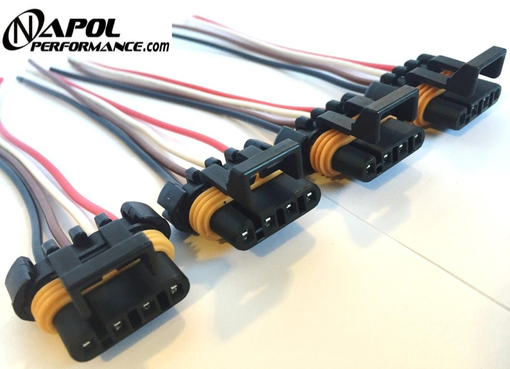 medium resolution of 4 x ls1 ls6 ignition coil wiring harness pigtail connector gm camaro corvette