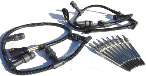 small resolution of 2004 2010 ford f250 f350 f450 6 0l diesel glow plug wire harness kit glow plugs set complete