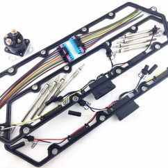 97 F250 7 3 Wiring Diagram 2007 International 4300 Radio 43 Powerstroke 3l Diesel Glow Plug Kit Gaskets Harness