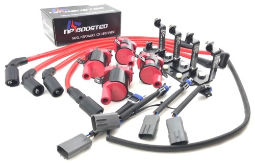small resolution of mazda rx 8 rx8 d585 ignition coil packs kit wires w harness mounting bracket