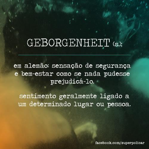 Geborgenheit-Glossario